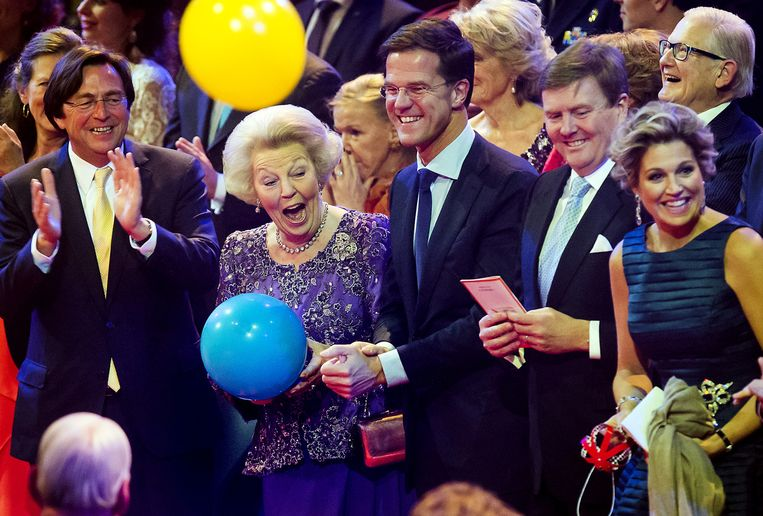 Hans Wijers tijdens een dankbetuiging aan voormalig Koningin Beatrix in Ahoy begin dit jaar. Wijers was voorzitter van het Nationaal Comité Inhuldiging. Beeld anp