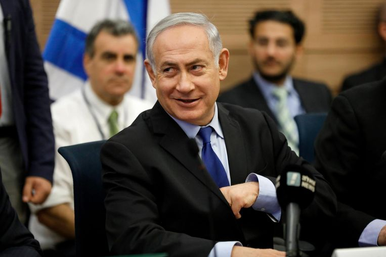 De Israëlische premier Benjamin Netanyahu Beeld epa