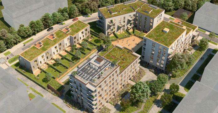 Een toekomstbeeld van het woonproject LUX.