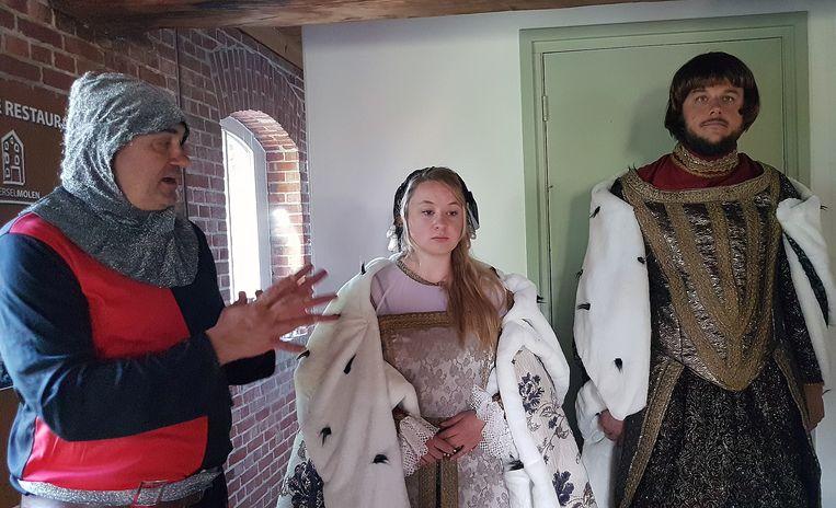 Ridder Guy Muësen, Elisabeth van Culemborg (alias Jill Cools) en Antoon de Lalaing (alias Koen Snijders).