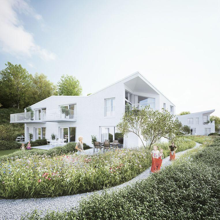 Een 3D-beeld hoe Residentie Hoogveld er zal uitzien.