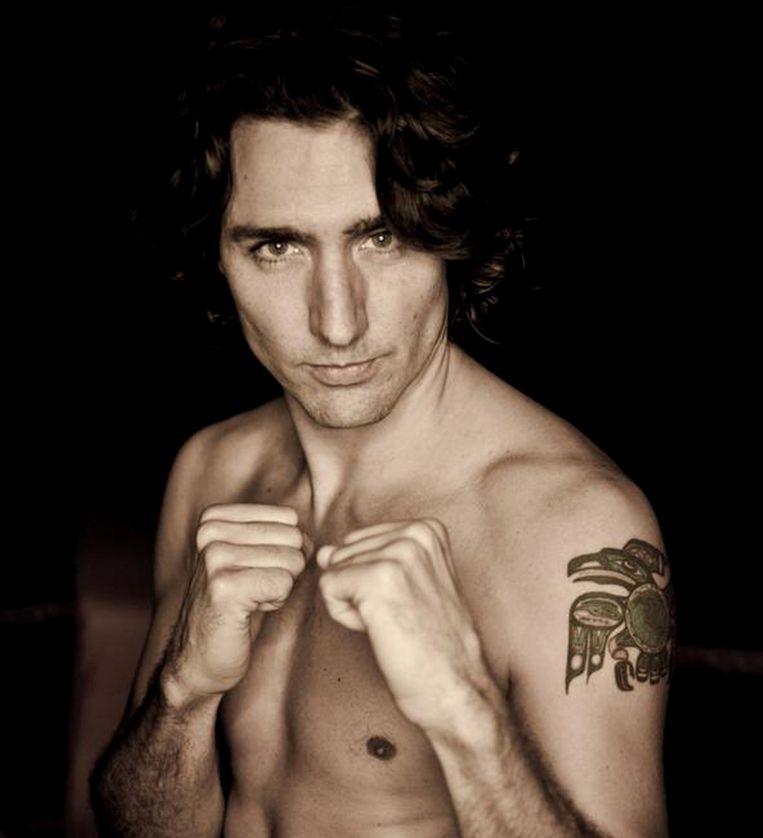 Canadese premier Justin Trudeau is klaar voor het gevecht. Beeld Mediaball