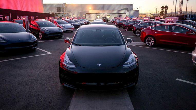 De nieuwe Tesla Model 3. Beeld reuters