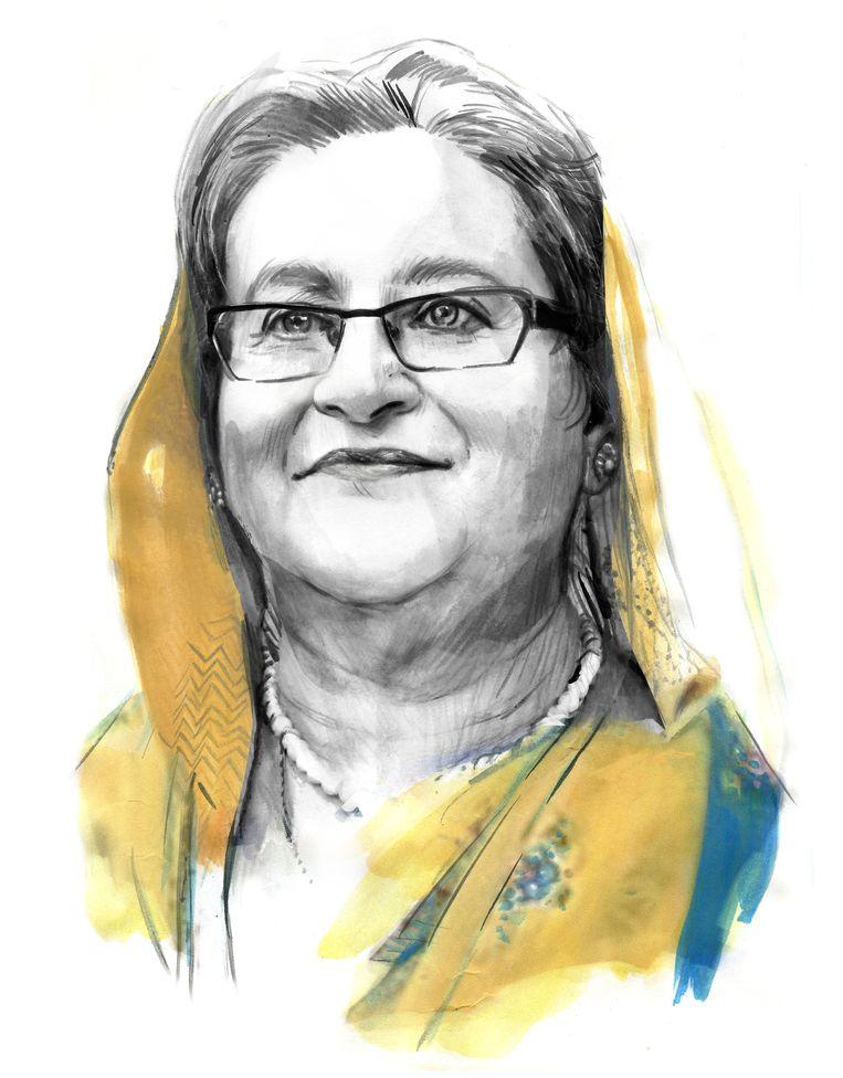 Sheikh Hasina Beeld Berto Martinez