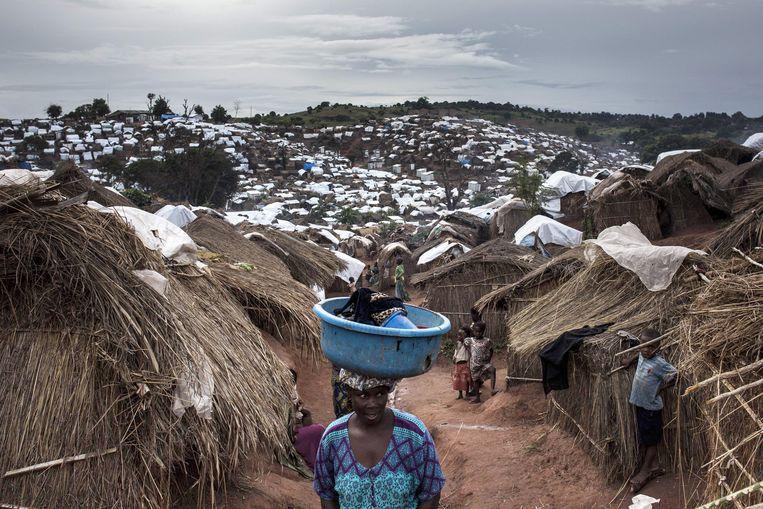 Een vrouw in een Congolees opvangkamp in Kalemie, in maart van dit jaar. Beeld null