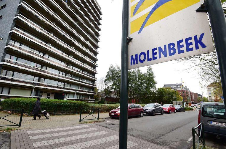 Bord aan de rand van de wijk Molenbeek Beeld anp