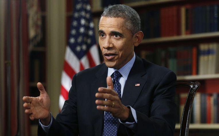 Amerikaanse president Barack Obama in een interview met Reuters Beeld reuters