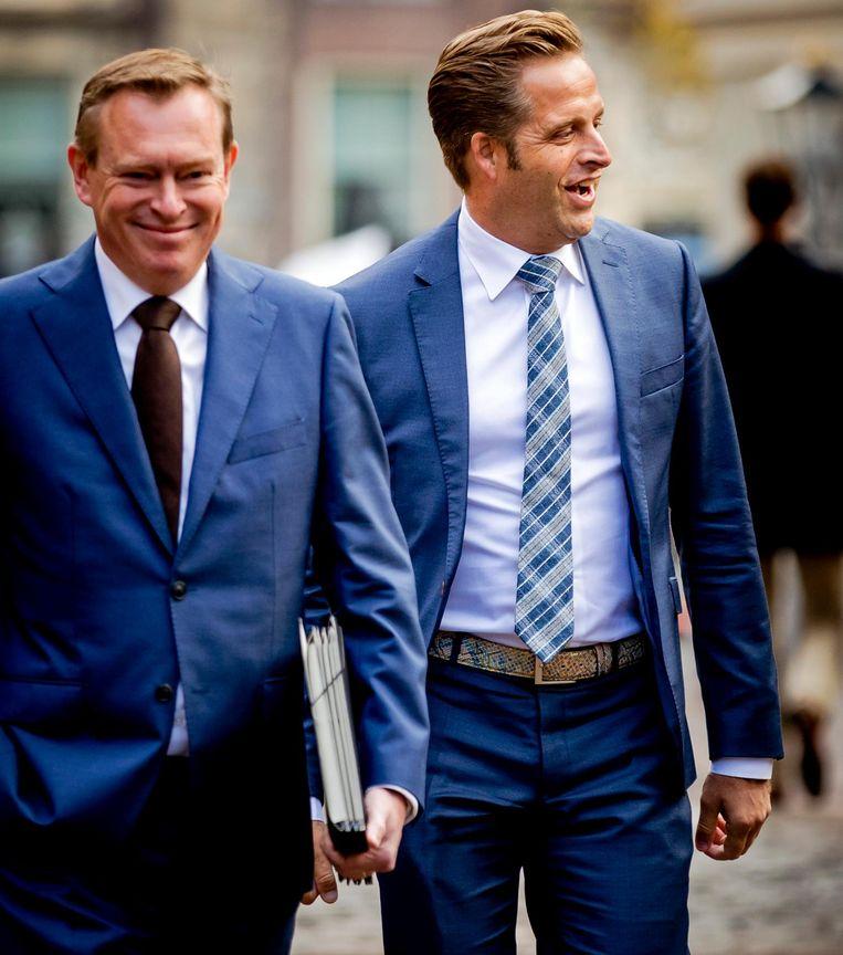 Ministers Bruno Bruins (l) en Hugo de Jonge. Beeld ANP