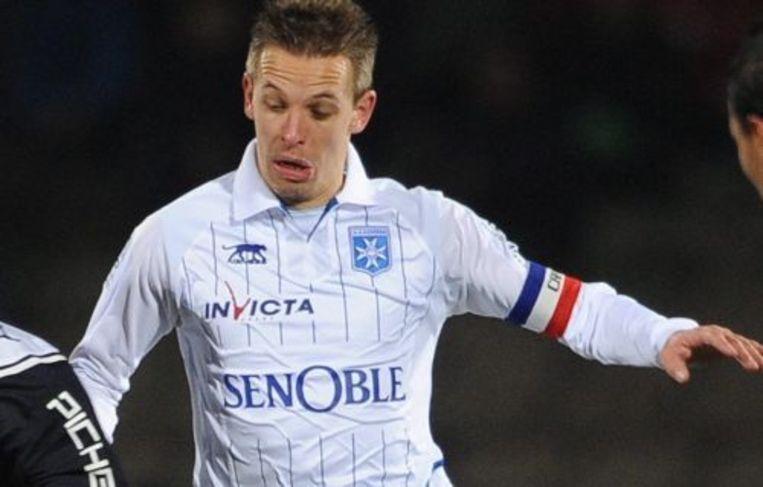 Benoit Pedretti wasin blessuretijd de matchwinner voor Auxerre. ANP Beeld