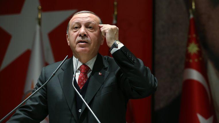 De Turkse president Recep Tayyip Erdogan Beeld epa
