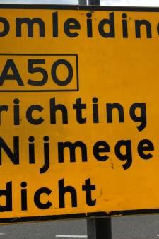 A50 een week lang dicht, groot onderhoud kost 4,4 miljoen euro
