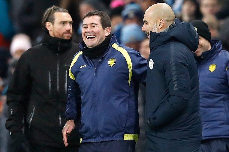 Nigel Clough dolt met Guardiola.