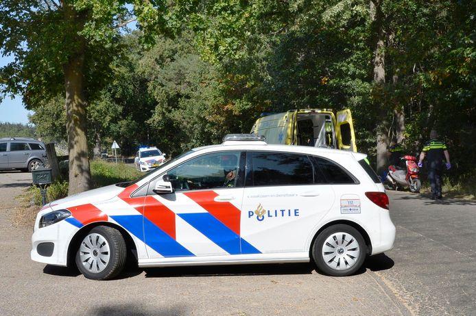 Politie aanwezig bij het ongeval.