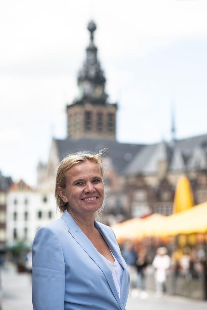 PR dgfoto Gelderlander Nijmegen: Monique Esselbrugge (D66) wethouder  citymarketing,  binnenstad en toerisme.