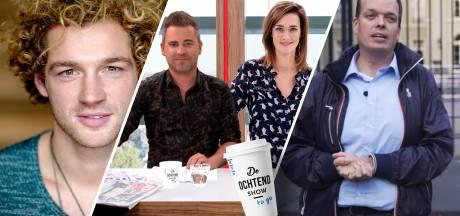 Jamie Trenité en verslaggevers Jeroen Schmale en Tonny van der Mee in De Ochtend Show to go