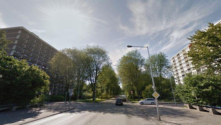 Het ongeluk gebeurde op de IJdoornlaan ter hoogte van de Jisperveldstraat. Beeld Google Streetview