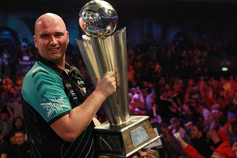 Rob Cross, de nieuwe wereldkampioen darts.