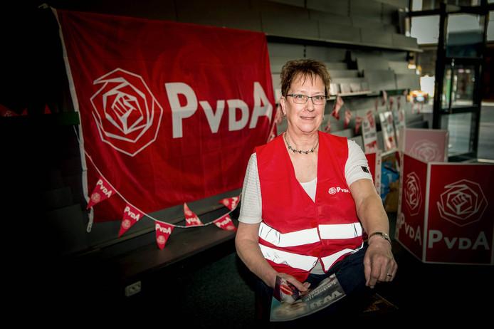 Ria Straathof uit Winssen zette zich in voor de PvdA.