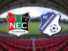 LIVE: NEC verliest na 24 jaar thuis in de eerste divisie met 0-1 van Eindhoven