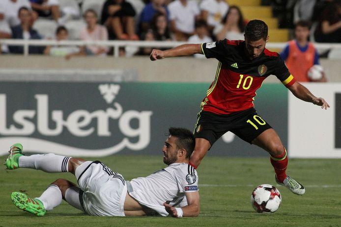 Zonder echt uit te blinken gaf Hazard met enkele flitsen toch enige vorm van klasse aan de avond.