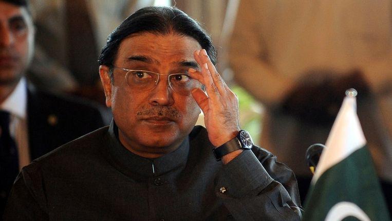 President Asif Ali Zardari. Beeld afp