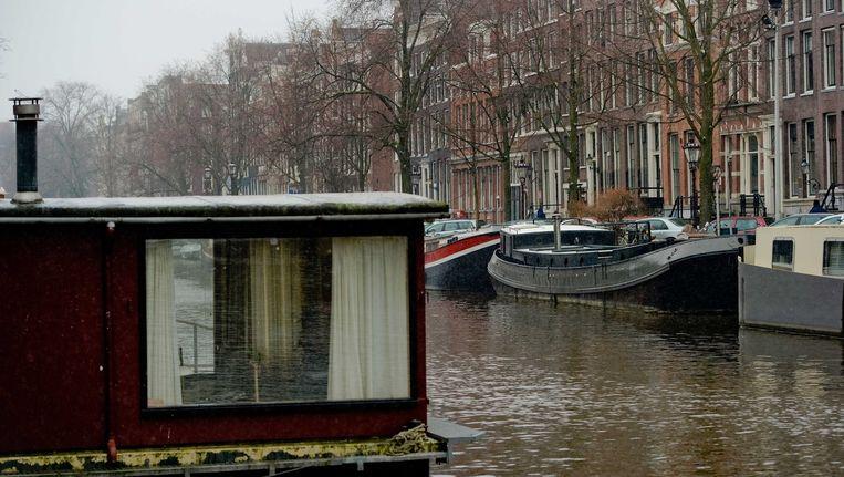 Woonboten in Amsterdam Beeld anp
