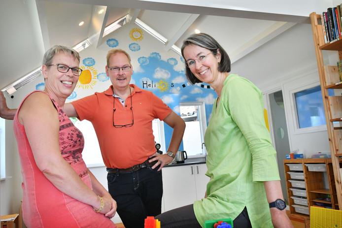 Vlnr: Geesje Oosting, Jan van Zutphen en Margit Horsthuis.