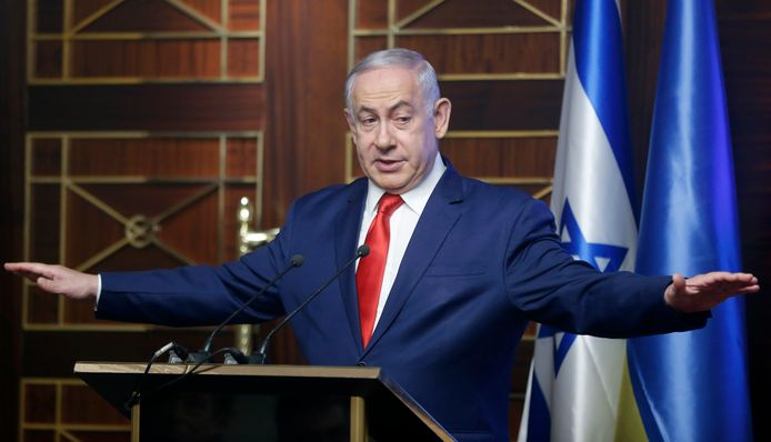 De Israëlische premier Benjamin Netanyahu waarschuwt Iran: ,,Iran heeft nergens immuniteit.''