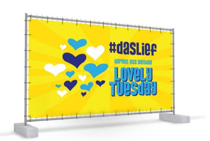 Een banner van de Lovely Tuesday.