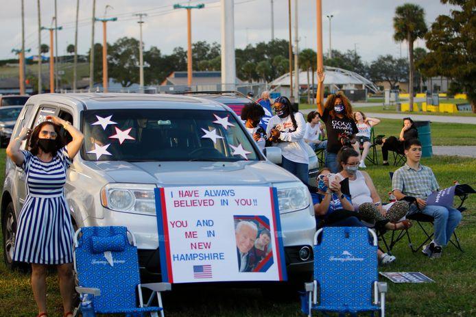 Les supporters de Joe Biden en Floride.