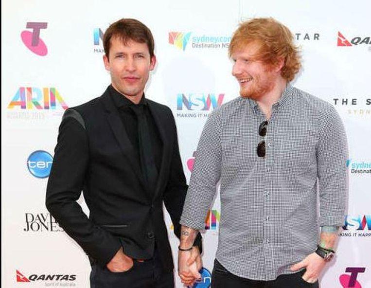 James Blunt en Ed Sheeran hebben een echte bromance.