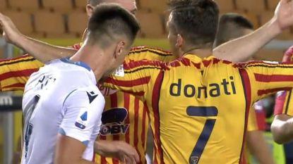 Lazio-verdediger die beet in arm van tegenstander kent zijn straf: vier speeldagen schorsing en fikse boete