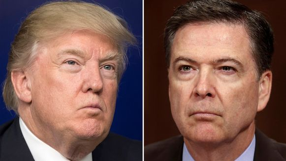 Donald Trump en FBI-baas James Comey.