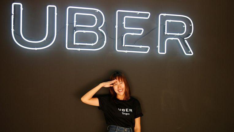 De lancering van Uber in Myanmar, afgelopen mei. Beeld reuters