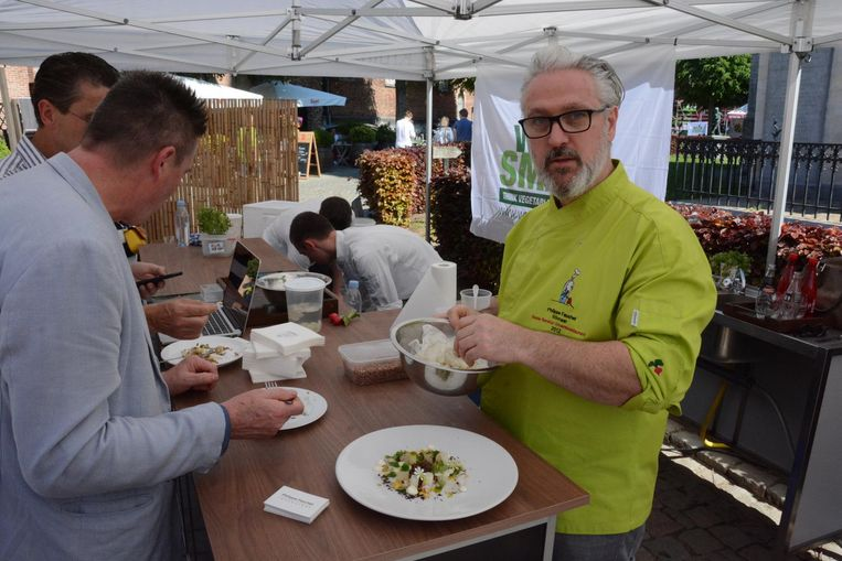 Philippe Fauchet, groentenchef van het jaar in 2012, was één van deelnemers van de workshops