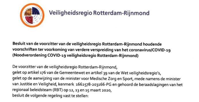 Noodverordening Coronavirus In De Regio Makkelijker Om Te Handhaven Rotterdam Ad Nl