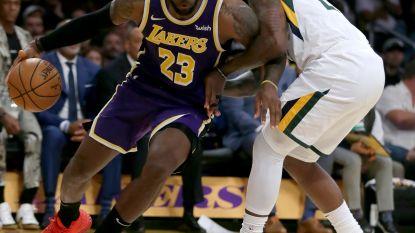 LA Lakers boeken tegen Utah eerste zege van het seizoen