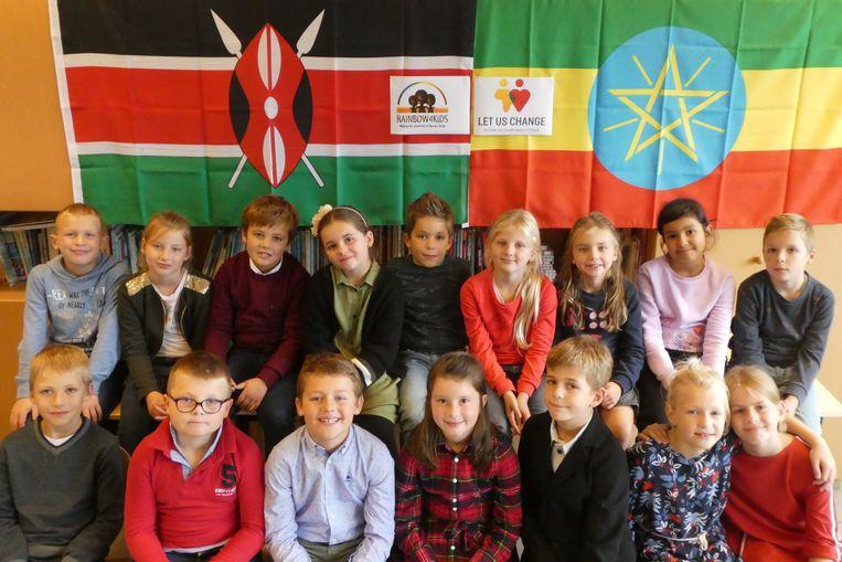 De kinderen van de Marialoopschool hebben een mini-onderneming voor het goede doel.