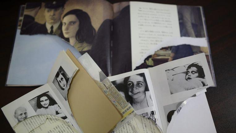 Gescheurde dagboeken van Anne Frank Beeld AFP
