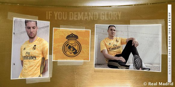 Luca Zidane en Keylor Navas in de nieuwe keeperstruitjes van Real Madrid.
