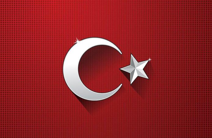 Vlag van Turkije.