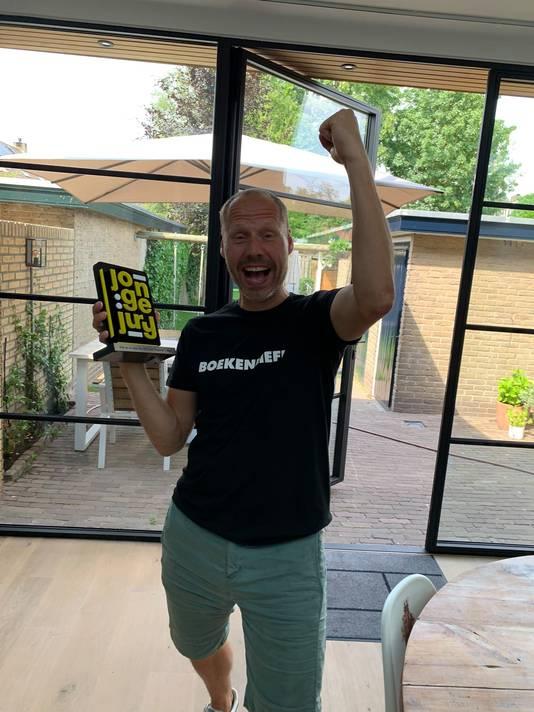 Een blije Buddy Tegenbosch op Twitter.