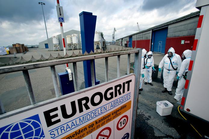 Inspectie leefomgeving nam eerder proefmonsters af op het terrein van Eurogrit.
