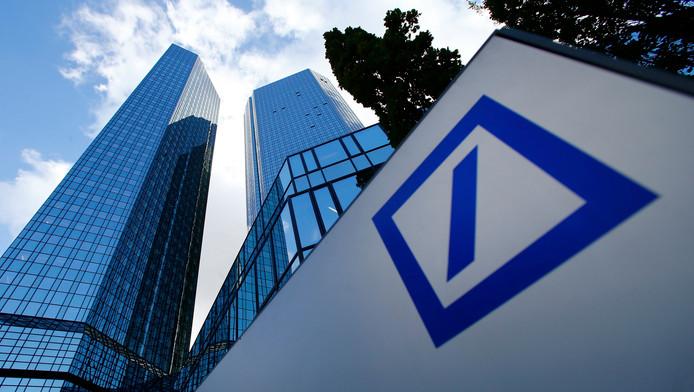 Het hoofdkantoor van de Deutsche Bank in Frankfurt.
