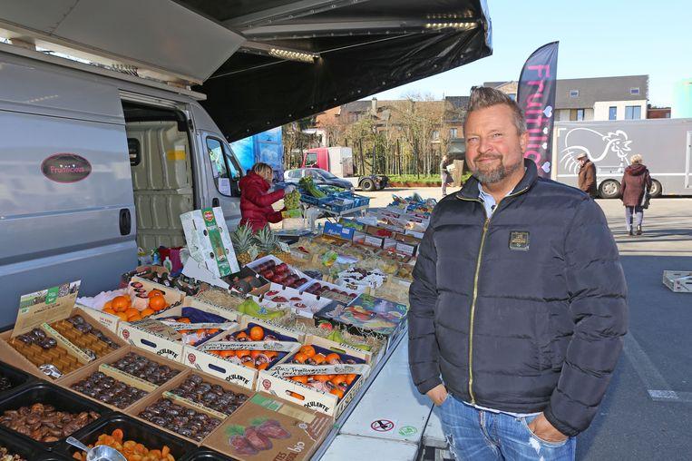 Marktkramer Stefan Vanderplas valt van 13 markten terug op 1 markt.