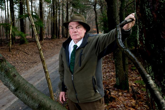 Cor Jonker, eind vorig jaar op zijn landgoed in Epe.