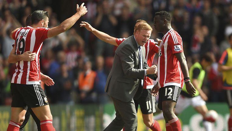 Ronald Koemand plaatste zich met Southampton voor de Europa League. Beeld ap