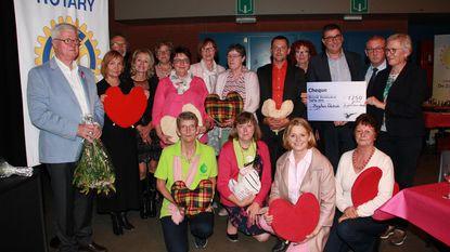 Zorghuis overhandigt cheque in strijd tegen borstkanker