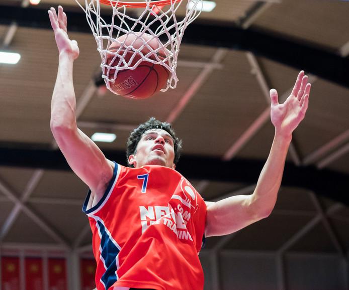Stefan Wessels, hier op een archieffoto, was zaterdag in Duitsland goed voor 16 punten voor Heroes Den Bosch.