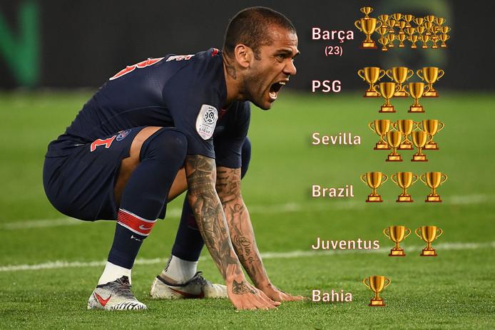 Dani Alves sleepte met het kampioenschap van PSG al zijn 39 prijs in de wacht.